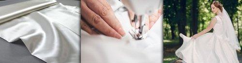 Satin-Brautkleid für die Hochzeit selber nähen
